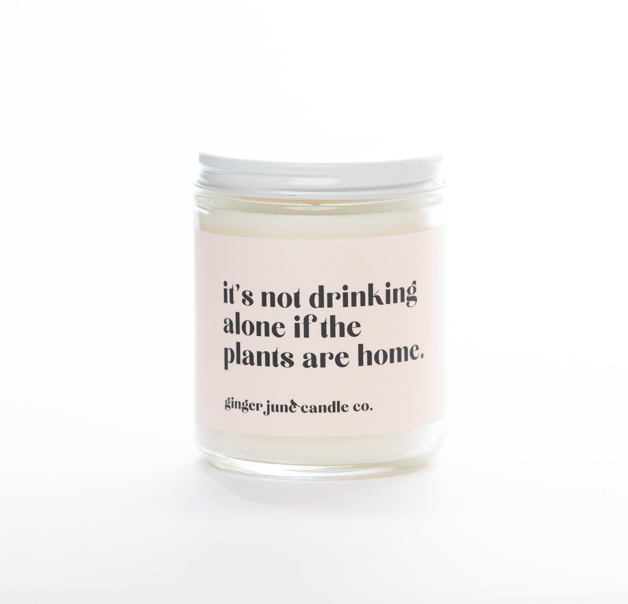 Not drinking alone if plants are home