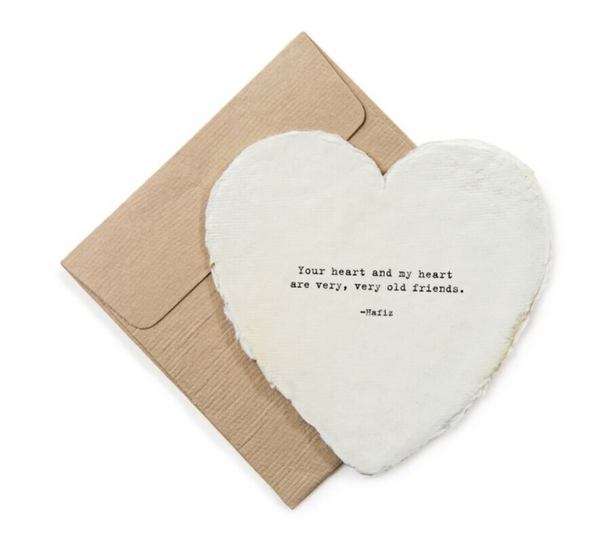 Large Deckled Heart Card And Envelope