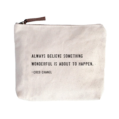 Canvas Zip Bags