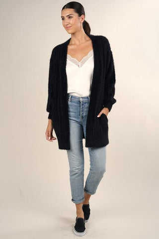 fuzzy boho cardigan adored boutique