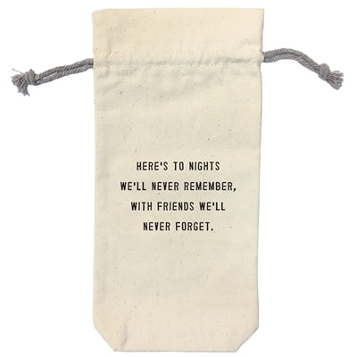 Heres to the nights wine bag