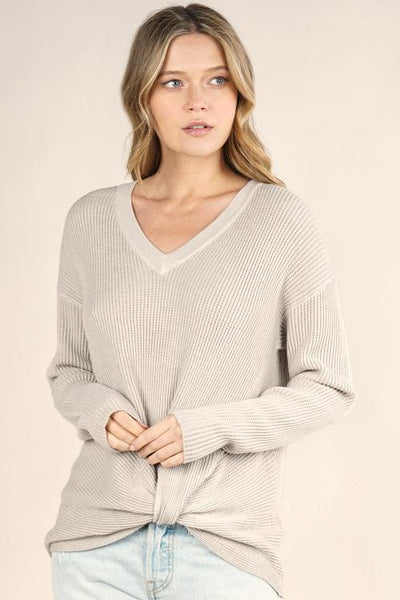 heather thermal sweater adored boutique