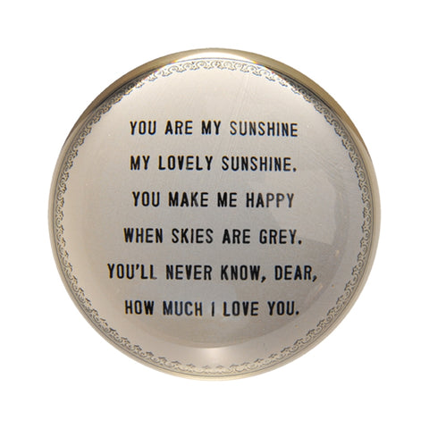 You are my sunshine paperweight adored boutique