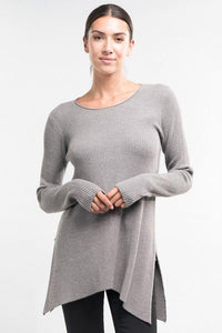 long sleeve hem sweater adored boutique