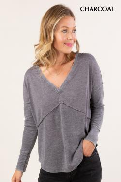 thermal neck long sleeve  adored boutique