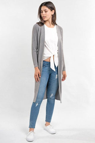 duster waffle knit cardigan adored boutique