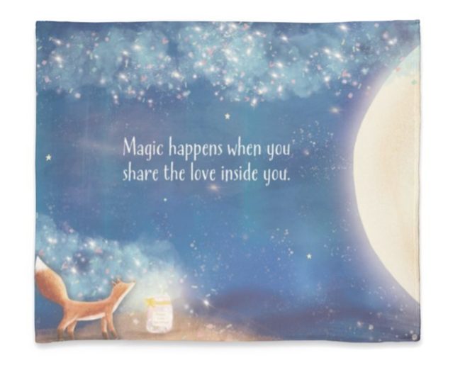Plush Fleece Blanket 50 x 60 - Magic Happens