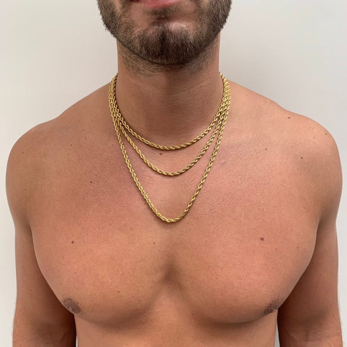 4mm 14ct gold plated  Rope Chain