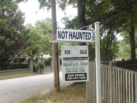 Not Haunted House Sign