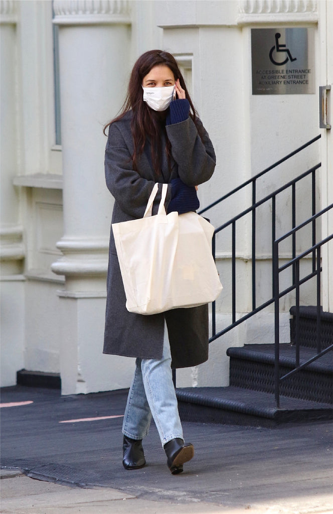 Katie Holmes style in square-toe TyLynn Boots