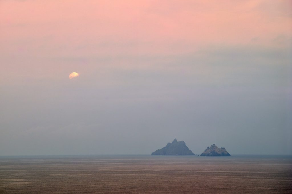 Moonset over the Skelligs