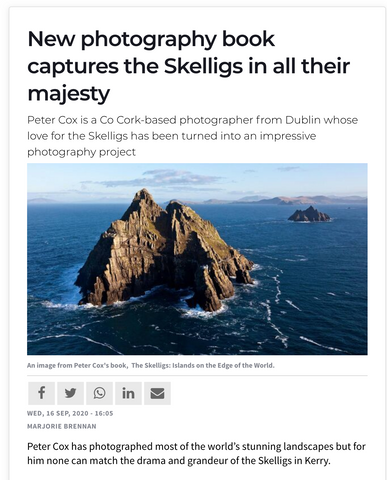 Examiner article on The Skelligs