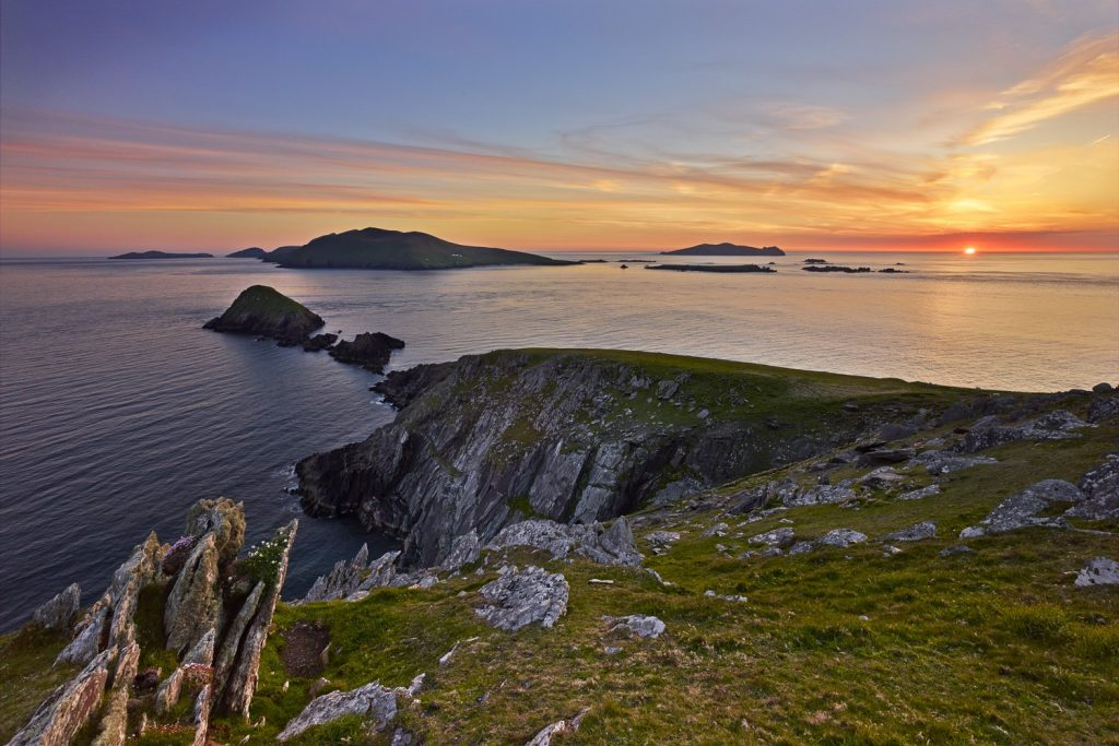The Blasket Islands seen here from Dunmore Head, Co. Kerry.