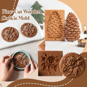 Pine-cut Wooden Cookie Mold