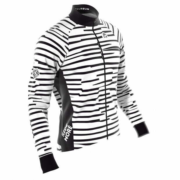 Cipo White & Black Men's Jacket