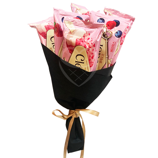 ICE CREAM BOUQUET WRAPPING SERVICE (Pre-Order for Next Day Delivery, Ice Cream Sold Separately)