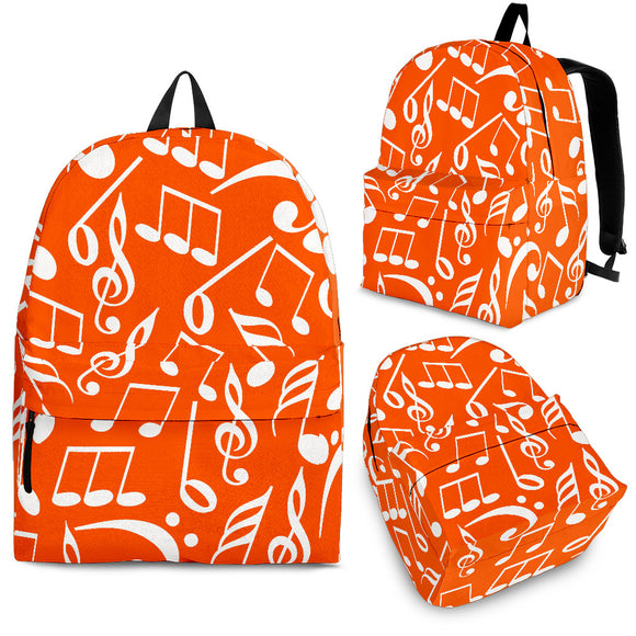 Back Pack Music Note Orange