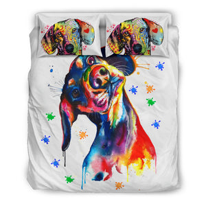 Dog duvet colorful