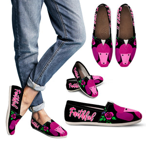 Pink Poodle Women's Casual Shoes Faithful Dog