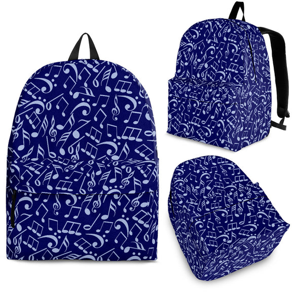 Back Pack Music Note Deep Blue