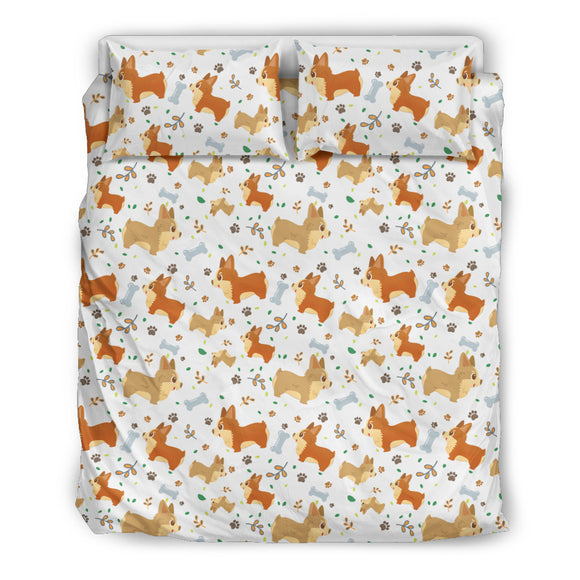 Cute Corgi Dogs Bedding Set