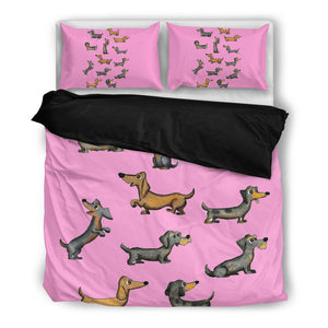 Bright Pink Dog Duvet