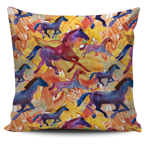 Horses Running Pillow Cover