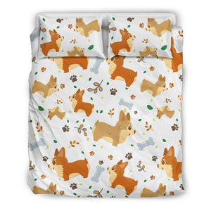 Cute Corgi Dogs Bedding Set for Lovers of Corgis