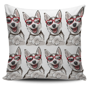Laughing Dog Pillow Cover