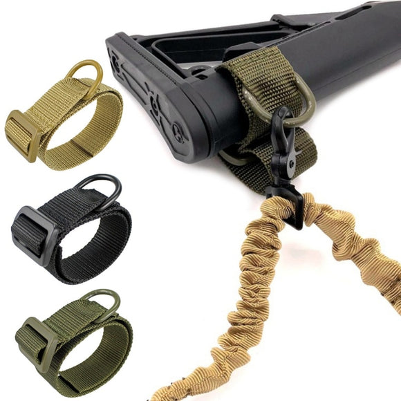 Abay Military Airsoft Tactical ButtStock Sling Adapter Rifle Stock Gun Strap