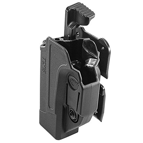 Orpaz Glock 19 Holster Fits Also Glock 17 Glock 22 Glock 23 Glock 26 Glock 27 Glock 34 & More (Right Hand, Level 2 Thumb Release MOLLE Holster)