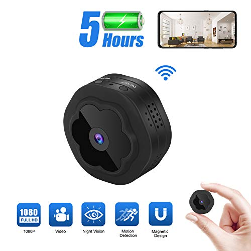 Mini Spy Hidden Camera WiFi Wireless Camera 1080P HD Remotely Monitor, Motion Detection Recording with Night Vision View for Home Security,Indoor Small Hidden Camera Nanny Cam for Children/Office