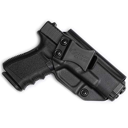 Glock 17 19 22 23 26 27 31 32 33 45 (Gen 1-5) IWB Holster - Combat Veteran Owned Company - Inside The Waistband Concealed Carry - Adjustable Retention and Cant (Right-Hand Draw (IWB))