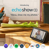 "Echo Show 5"" smart display with Alexa – stay connected with video calling"