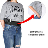 Belly Band Holster XL for Concealed Carry - IWB Waist Gun Holsters for Men and Women - Fits Glock, Ruger LCP, S&W M&P 40 Shield Bodyguard, Sig Sauer, Ruger, Kahr, Beretta, 1911, etc