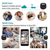 Quniao Portable Wireless WiFi Mini Camera, 1080 P Full HD Cam with Night Vision and Motion Dective, Video Record for Home, car and Office…