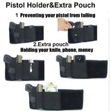 Tactical Gun Holster Concealed Pistol Holster Universal Right-hand Invisible Belly Band Elastic Waist Pistol Holder In Stock