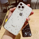 Moon Sparkle Sequins Silicone Case