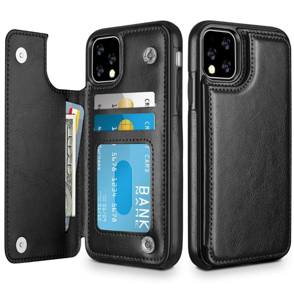 Wallet Phone Cases for IPhone 11 Pro Max 6S 6 7 8 Plus XS Max XR Case Cover Retro Flip Leather Phone Case for Iphone 7 Case Capa