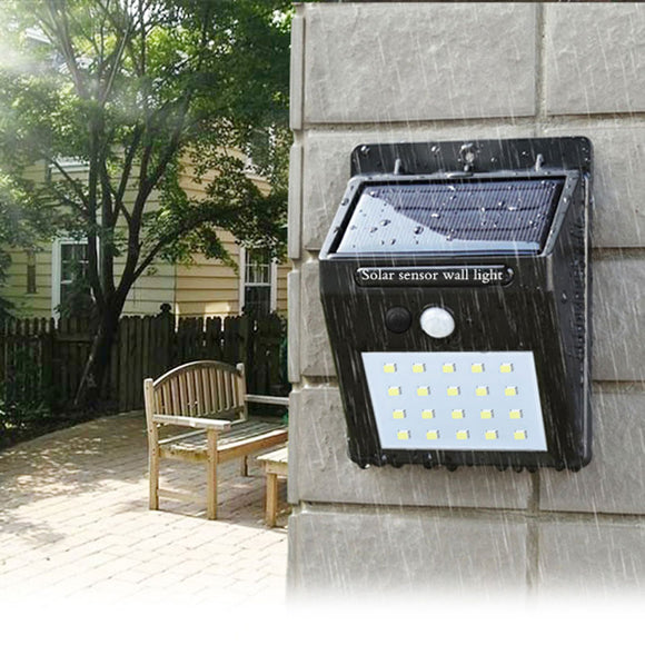 Solar Sensor Waterproof Garden Wall Light
