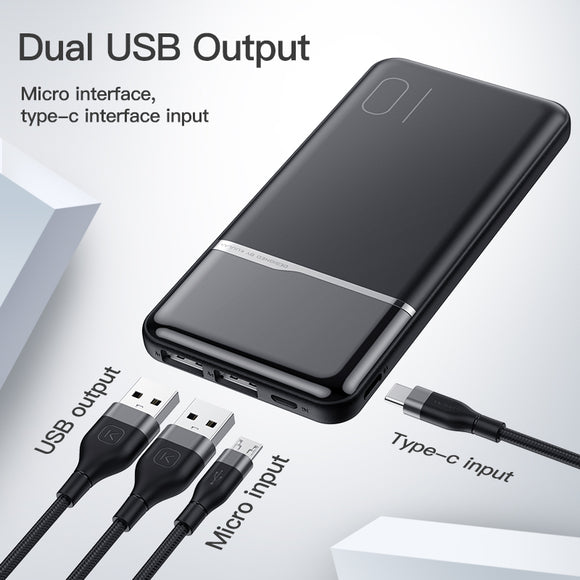 KUULAA Power Bank 10000mAh Portable Charging PowerBank