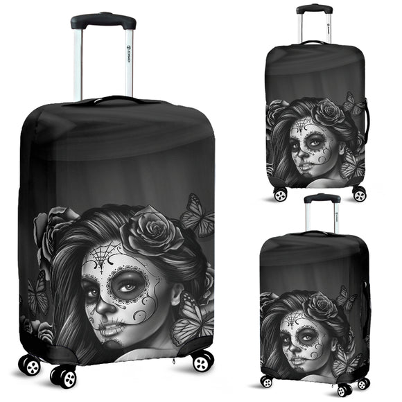 Luggage Covers Calavera Gray