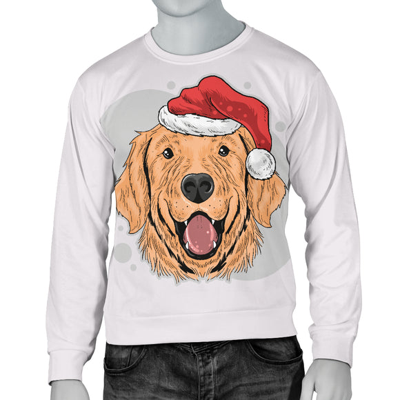 Have A Golden Christmas Men's Sweater for Golden Retriever Dog Lovers