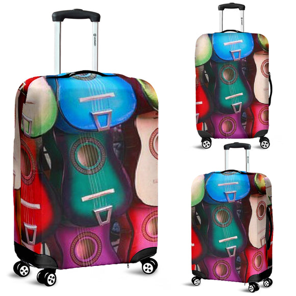 Colorful Guitars Luggage Covers