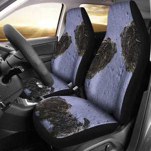 Cute black dog Car Seat Cover