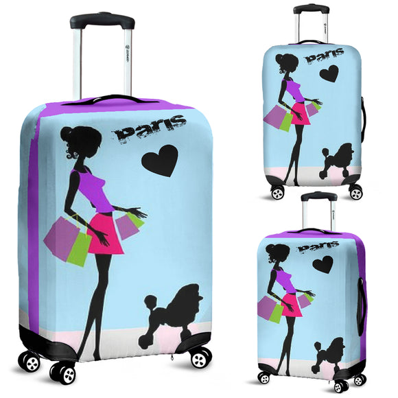 Shopping In Paris Luggage Covers