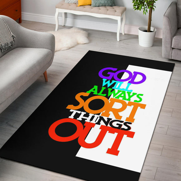 GOD will always sort things out Rug