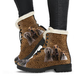 Funny dog faces Fur Boot
