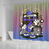 Amped Guitar Shower Curtain for Musicians and Music Freaks