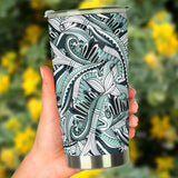 Funky Patterns (Black) - Travel Tumbler